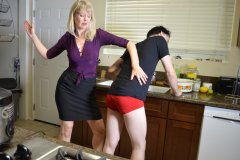 Clare Spanks Tristan For Mess